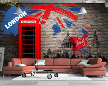 цена на wall paper European and American retro red backdrop wallpaper 3d stereo KTV Restaurant TV wallpaper murals papel de parede
