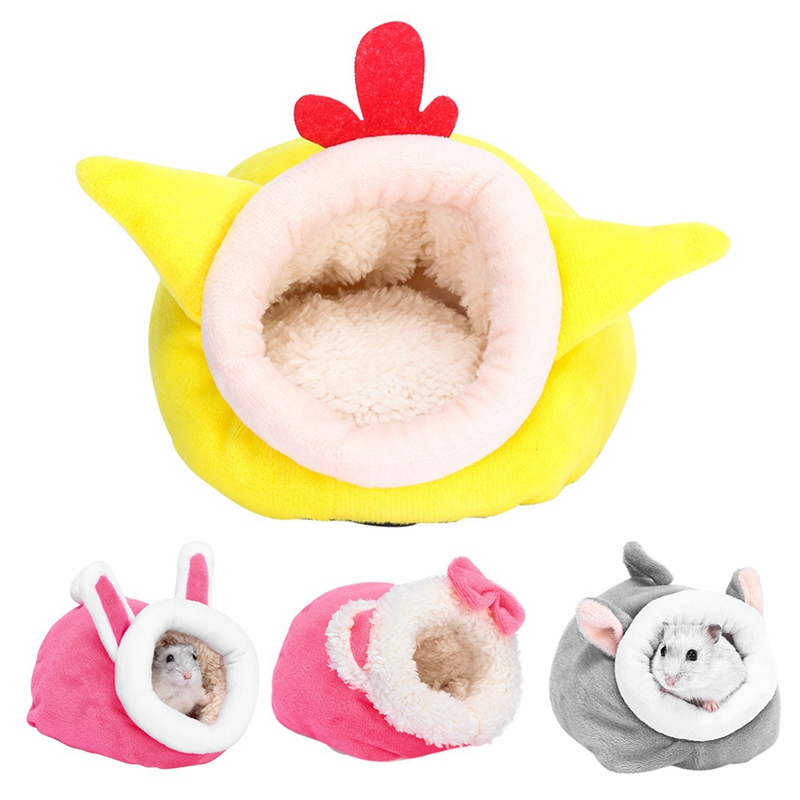 Plush Soft Guinea Pig House Bed Cage For Hamster Mini Animal Mice Rat Nest Bed Hamster House Cages Small Pet Products