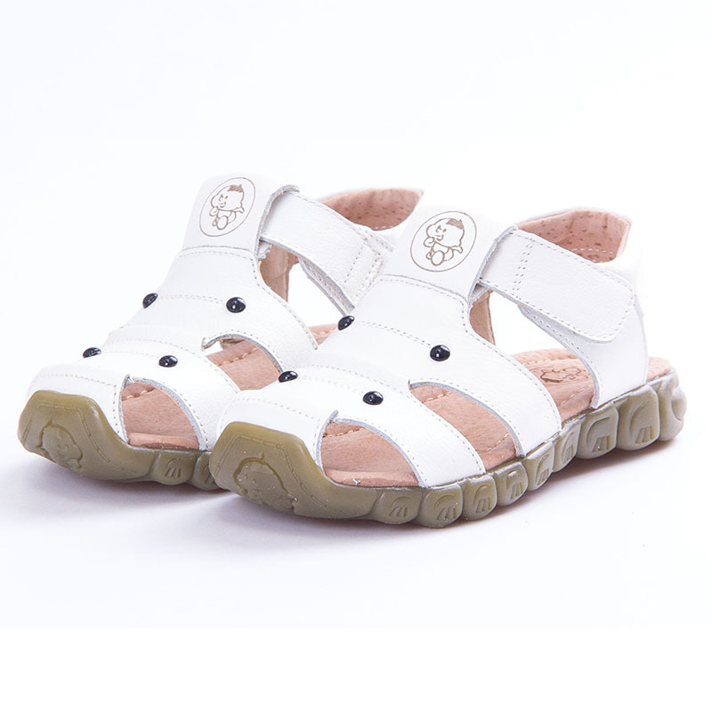 2020 New Summer Genuine Leather Kids Sandals Soft Comfortable Beach Sandals For Boys Girls Baby Anti-Slip Toddler Shoes Sandaly