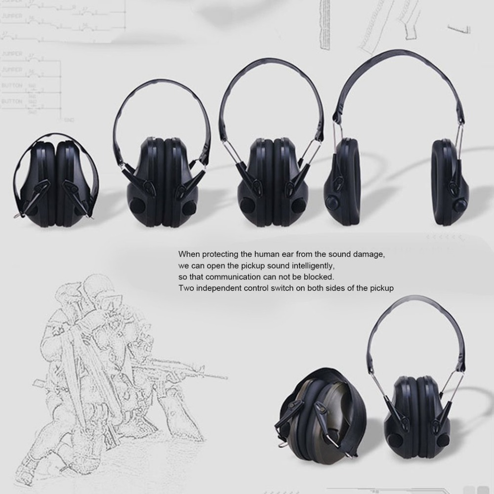 Ear Protector Tactical Hunting Earplugs Electronics Caza Shooting Headset Tac 6s Noise Reduction Tactico Protective Foldable Ear Plugs Earmuff 100% Original