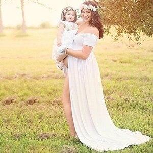 Image 2 - Sexy Moederschap Fotografie Props Moederschap Jurken Off Shoulder Moederschap Gown Voor Fotoshoots 2019 Nieuwe Vrouwen Zwangerschap Jurk