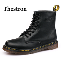 Thestron Men Boots Leather Martens Boots Black Brown Red Male Army Shoes Tracking Boots Tactical Shoes 2018 Quality Big Size 45