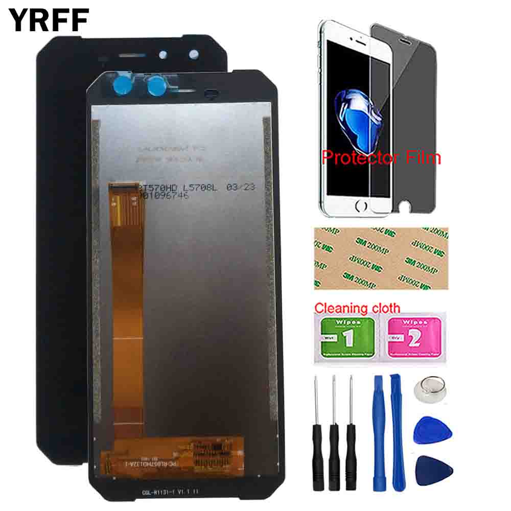 Image 1 - YRFF Mobile LCD Display For Leagoo Xrover C LCD Display Touch Screen Front Glass Sensor Digitizer Panel Tools Protector Film-in Mobile Phone LCD Screens from Cellphones & Telecommunications