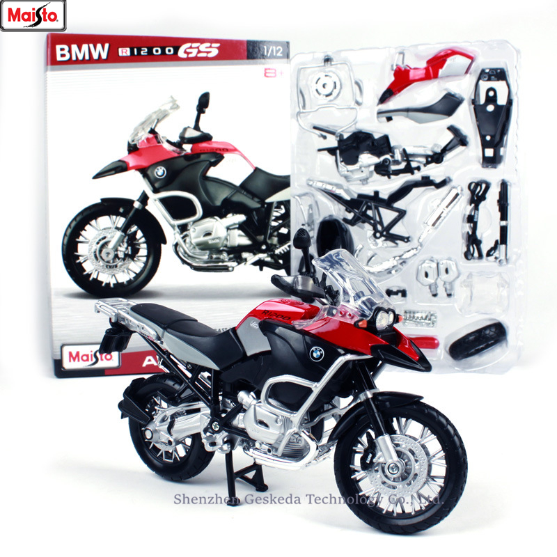 Maisto 1:12 BMW R1200 GS assembled alloy <font><b>motorcycle</b></font> <font><b>model</b></font> <font><b>motorcycle</b></font> <font><b>model</b></font> assembled DIY toy tools image