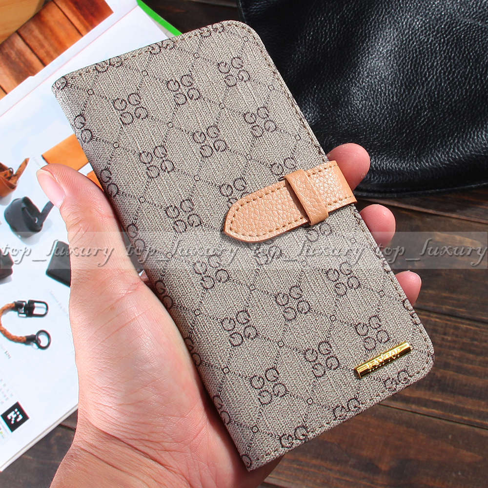 los angeles 7169f ebe9a US $9.99 |Luxury Designer GG Logo Leather Wallet Cases for Apple iPhone 6  Plus 5.5