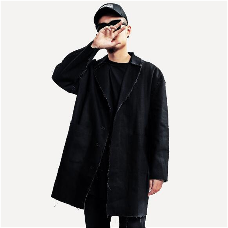 off white c o virgil abloh coat autumn winter men trench work coat white    black options turn down collar man casual jacket-in Trench from Men s  Clothing on ... cfe617f71b8a