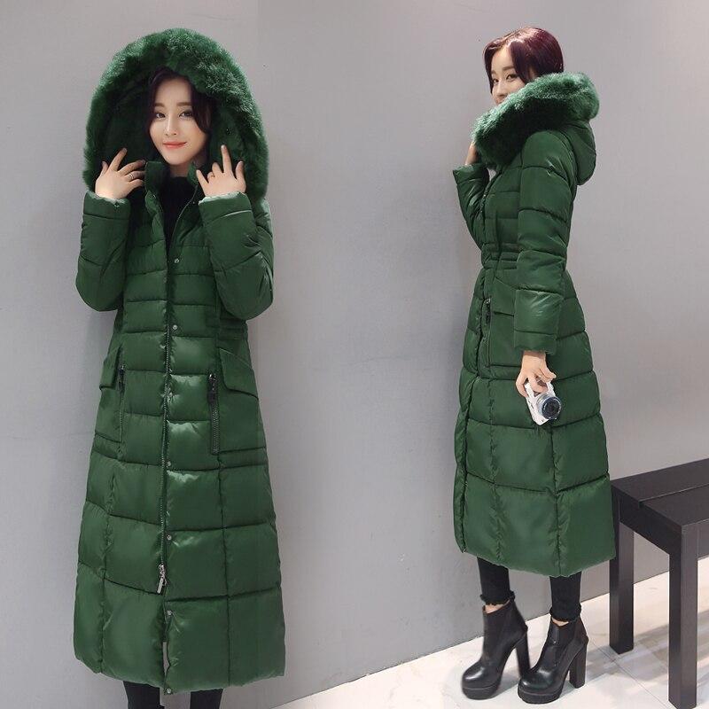À Plus long Bas Veste De Fourrure Manteau green Red En blue Mi 4xl D'hiver Femme black Chaud Capuche K638 Femmes Parka Coton Yagenz Col 0TqFww
