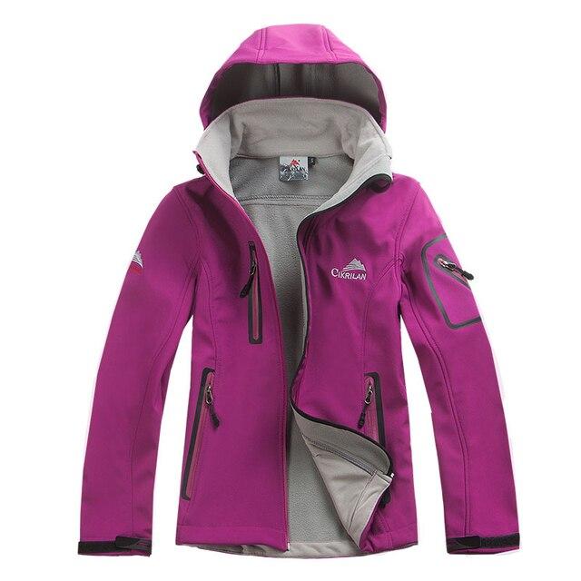 Мода Женщина На Открытом Воздухе Водонепроницаемый Windstopper Softshell Куртка Женщин Ветровка Теплый Дышащий Casaco Пальто Jaqueta Feminina