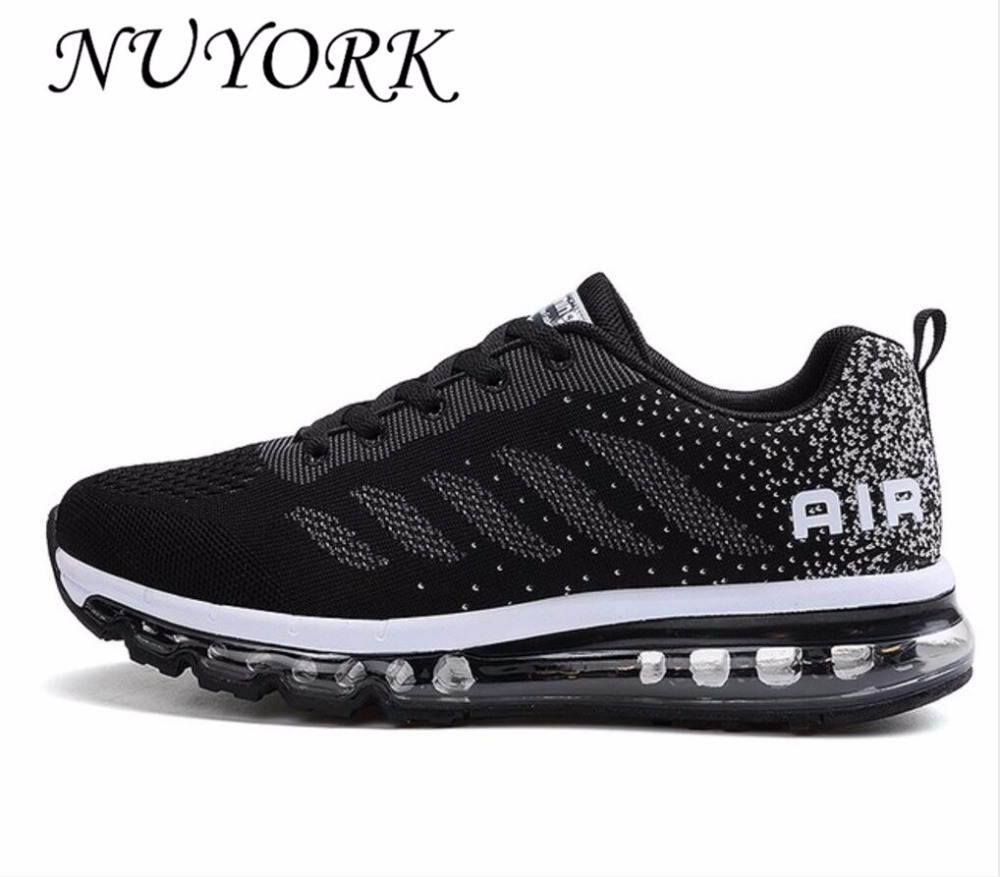 NUYORK  New listing hot sales Spring and Autumn Fly line Breathable Men running shoes Full air cushion sneakers 833-A33#