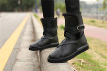 New China Brand Sheepskin snow  boots 100% Wool inside Real fur lady women's warm shoes Snow Boots high quality