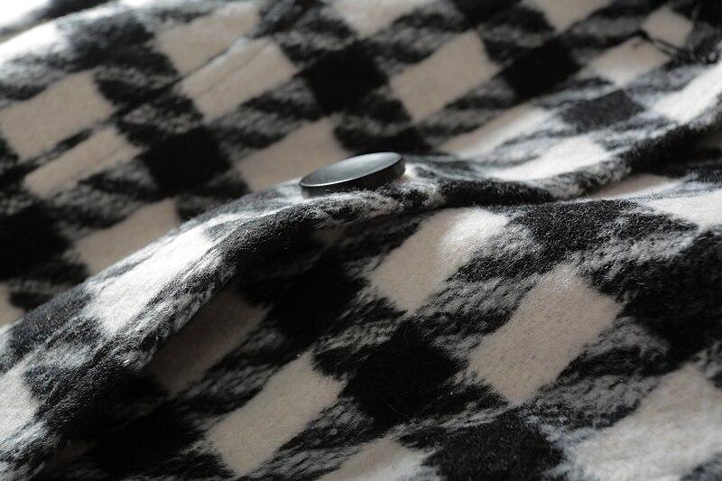 Turn Plein Casual Hiver Black Mélanges 3xl Collier Et De L down Laine Mince 2018 Samgpilee Femmes Nouveautés Plaid Mode Ceinture Longues Manches t0xpZ4qw