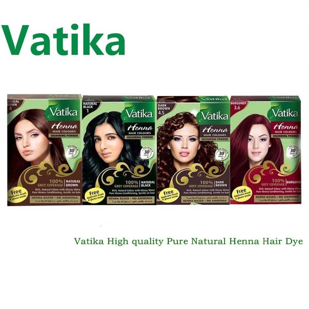 Vatika High quality Pure Natural Henna Hair Dye/ Henna Eyebrow Tint Kit, Ideal for Hair, Beard & Eyebrows 30-minute fast dye intensive eyebrow tinting brush for brow tint dye colour