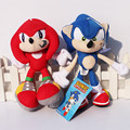 "8"" 20cm Sonic The Hedgehog Plush Dolls Sonic speed of sound Soft Stuffed Plush Toys Red And Blue"