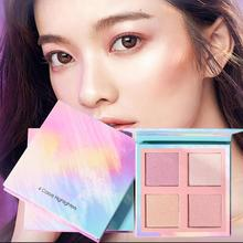 Bright Light Eye Shadow Palette 4 Color The Nude Balm Minerals Powder Pigments Waterproof aurora highlight Glitter shadow