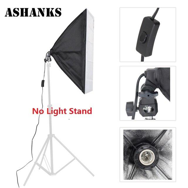 ASHNAKS Photo Studio Softbox Attrezzature Fotografiche Tenda 50x70 cm con Supporto Della Lampada Singola Per Fotografica E27 Illuminazione Continua