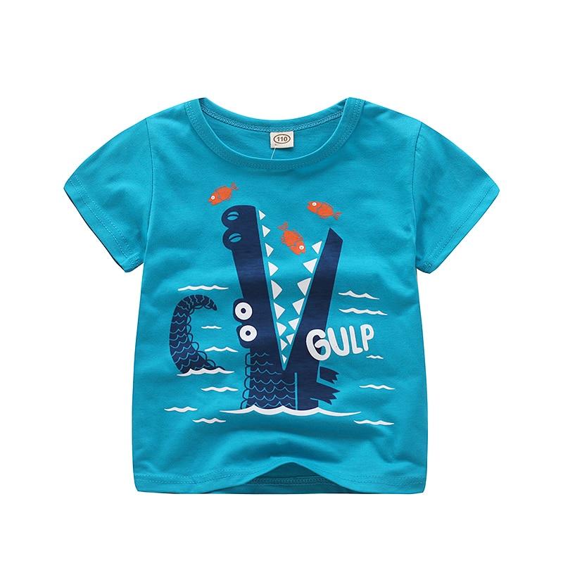 V-TREE; летние рубашки для мальчиков; хлопковые детские футболки; цветные топы для девочек; детская блузка с короткими рукавами; футболки для малышей; одежда для малышей