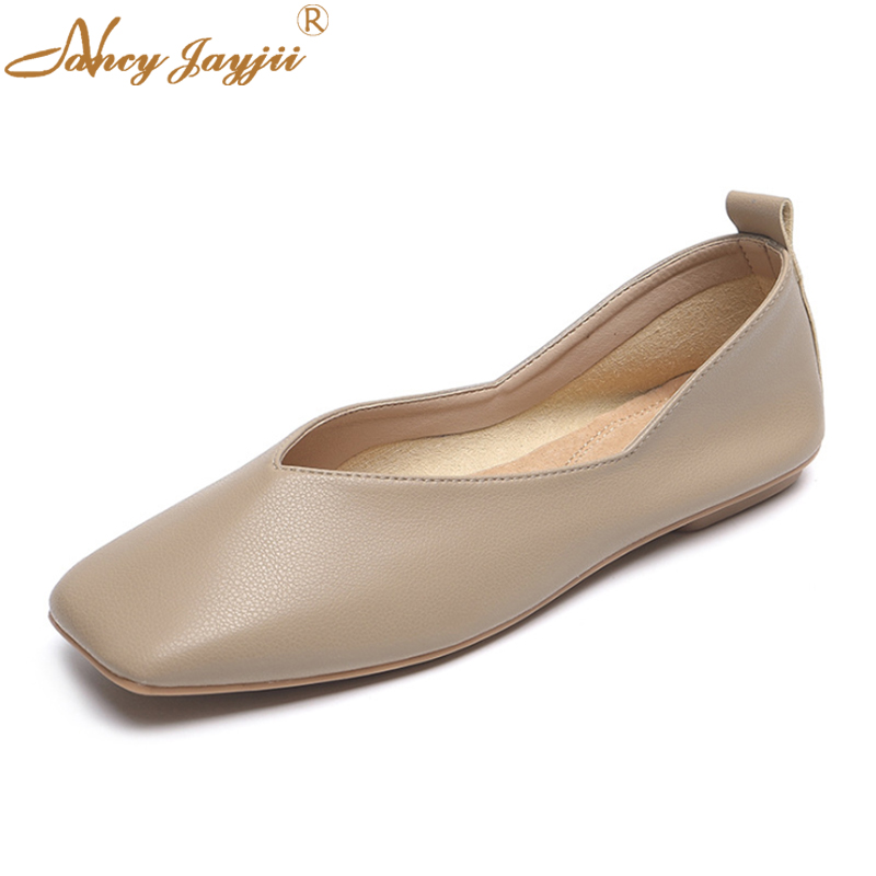 2019 Microfiber Springautumn Women Ladies Flats Shoes -8945