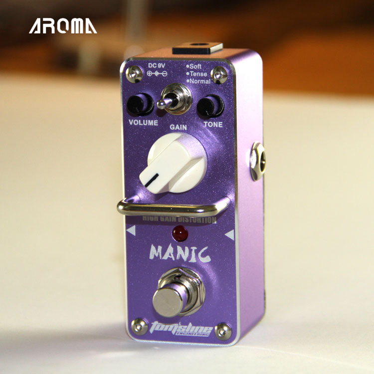 AROMA AMC-3 MANIC High Gain Distortion Pedal Mini Analogue Effects with True Bypass Design new aroma ahor 3 holy war metal distortion mini analogue effect true bypass