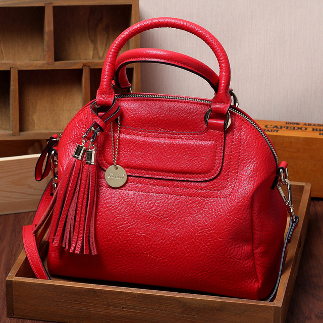 ФОТО Top layer genuine calf leather women fashion top handle shoulder bag WB040