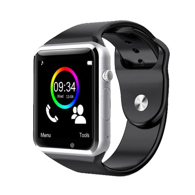 Novo fone de ouvido bluetooth a1 smart watch esporte relógios para apple iphone 6 wristphone samsung s4/note 2/note 3 htc android/ios telefone