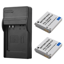 2pcs NB-6L NB-6LH Replacement Battery + Charger For Canon IXUS 310 SX240 SX275 SX280 SX510 SX500 HS 95 200 105 210 300 S90 S95