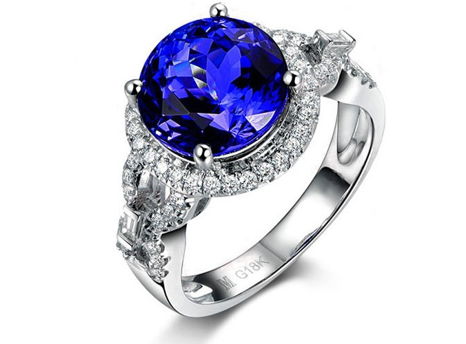 3 carat 925 sterling silver sapphire ring tanzanite man made  diamant ring  irregular cross arm design US size from 4.5 to 93 carat 925 sterling silver sapphire ring tanzanite man made  diamant ring  irregular cross arm design US size from 4.5 to 9