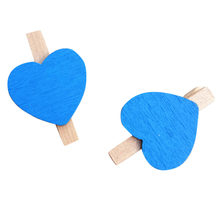 10pcs Pack Mini Heart Love Wooden Clothes Photo Paper Peg Pin Clothespin Craft Postcard Clips Home Wedding Decoration *D(China)