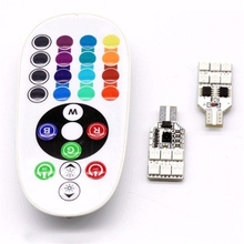 Auto Car 12 LED RGB Panel Interior Reading SMD Multi Colors light Remote Controller Multicolored Light
