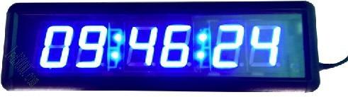 1,8 palce výška znak sedm segmentu vedl hodiny modrá barva 6digits hodiny, minuty a sekundy zobrazí 12H / 24H doprava zdarma