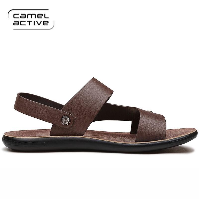 Marca Casuais Genuíno Moda De Novos Camel Sapatos Alta 2019 Qualidade Couro cáqui Active Homens Baixos Marrom Sandálias Verão Praia WxwZWOIq