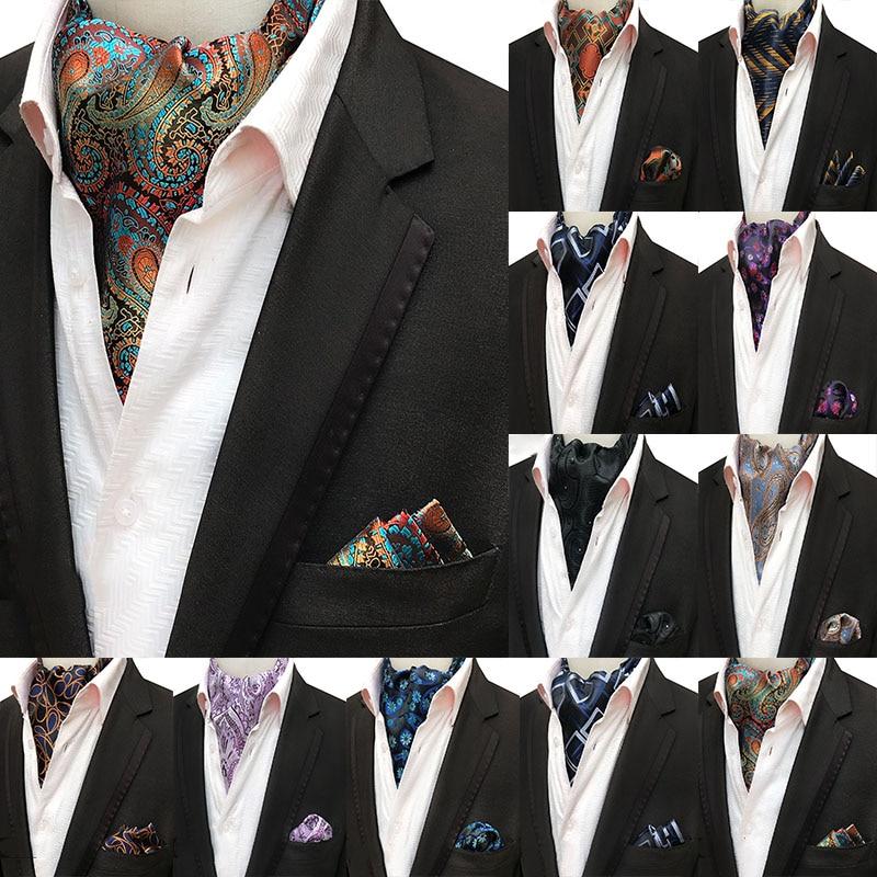 Mans Mans Vintage 100% Lenço De Seda Quadrado Bolso Gravata Conjunto de Luxo Flor Paisley Gravata Gravata Lenço Presentes para Homens