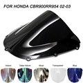 Черный мотоцикл лобовое стекло ветрового стекла ветровые дефлекторы для Honda CBR900RR CBR954RR CBR 900RR 954RR 900 954 2002-2003