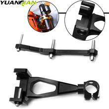 CNC Motorcycle Damper Bracket Steering Stabilize Damper Bracket Mounting Holder Kit For Yamaha MT-09 MT09 FZ 09 2013 - 2015 cnc motorcycle damper steering stabilize damper bracket mounting holder kit for yamaha yzf r3 mt 03 r25