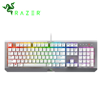 Razer BlackWidow X Chroma Gaming Keyboard Mercury Edition RGB US Layout 104 Keys Razer Green Switches Wired Mechanical Keyboard