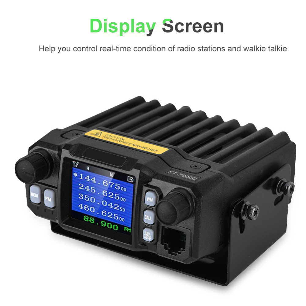 KT 7900D Stable Frequency Car Walkie Talkie VHF UHF 200 Channels 5 50 km Distance Mobile