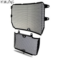 Black Motorcycle Accessories Radiator Guard Protector Grille Grill Cover For YAMAHA MT10 MT 10 MT 10