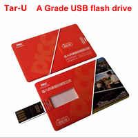 100Pcs 64GB card usb flash drive wholesales bank card 64gb pen drive logo printing memory card