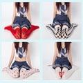 Novas Mulheres Meias Pantyhoses Bonito Da Escola Harajuku Impresso Longo Fino Meninas Metade Do Joelho Meias Coxa Assentamento Leggings Moda