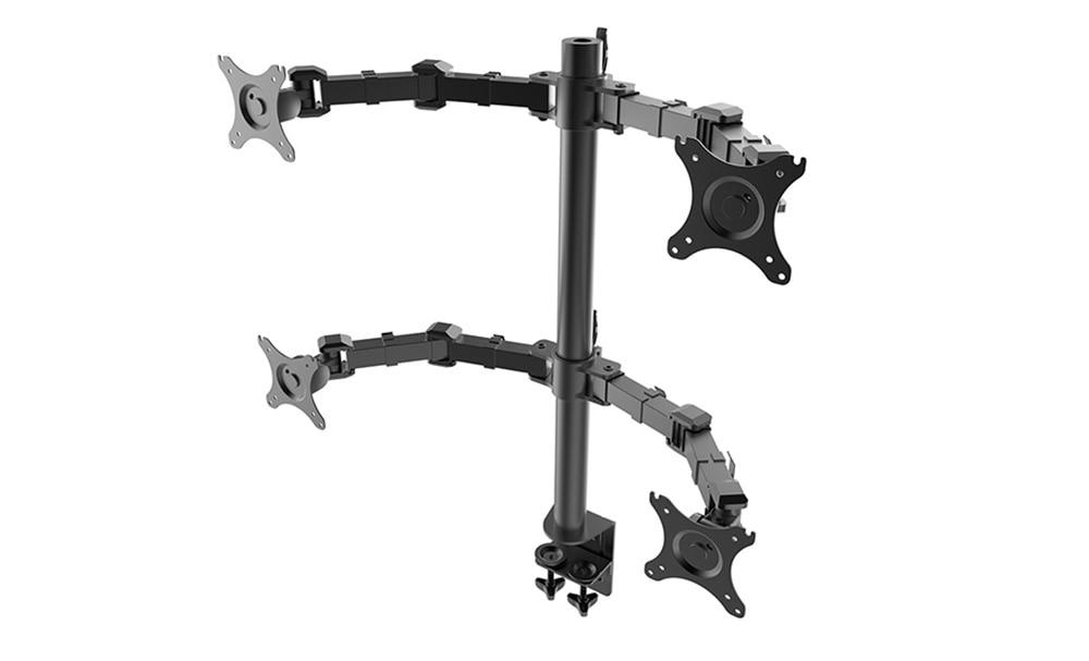 desktop quad monitor heavy duty mount four arm lcd stand quad screens fit for 10 u0026quot  30 u0026quot  max 10kg