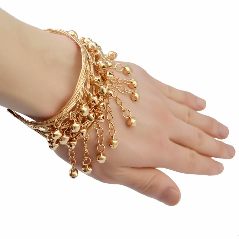 Bohemian Antalya Gypsy Turkish Silver Gold Fashion Bracelets & Bangles Sinaya Ethnic Bells Chain Tassel Bracelet Women Jewelry