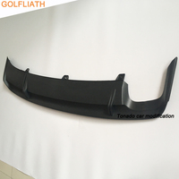 GOLFLIATH OEM GLI style PP Rear Diffuser Spoiler Lip Auto Car Rear Bumper kit Fit For VW Jetta MK6 2015 2017