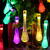 20 LED Solar Powered Motion Sensor String Lights Water Drop LED Fairy Light for Wedding Christmas Party Festival Decoration