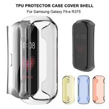 360 Degree Clear TPU Protector Case Cover Shell For Samsung Galaxy Fit-e R375 Smart Bracelet Protective Shell 3pcs protective flim screen protector ultra thin clear lcd guard shield cover skin for samsung galaxy fit fit e bracelet tools