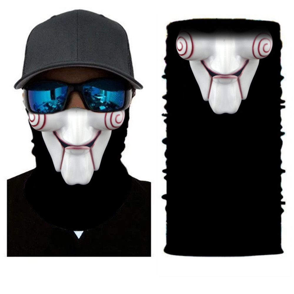 Windproof Mask Anti-UV 3D Printed Protective Dust Mask Magic Head Face Mask Seamlessly Multi Wear For Biker Motorcycle Mask monster printed halloween decor head mask page 8