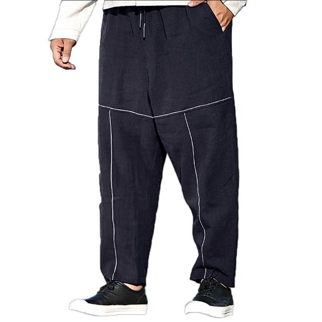 5b0033de8b1 Vintage Harem Pants Men Japanese High Street Hip Hop Mens Pants Jogger  Loose Black Men Trousers Baggy Plus Size Clothing Lc7