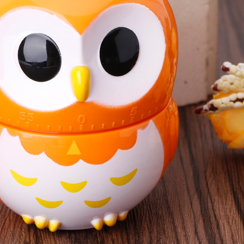 US $3 25 28% OFF|Cute Owlet Mechanical Kitchen Timer 60 Minute 1 Hour  Cooking Baking Tool Gift #20/8-in Kitchen Timers from Home & Garden on