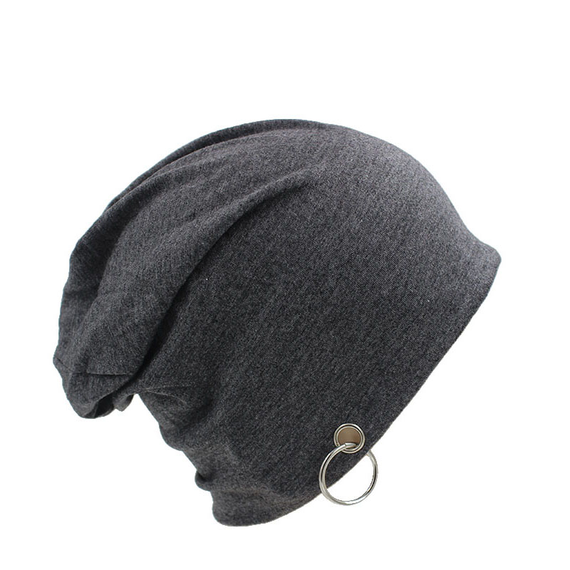 Top Fashion Adult Novelty Solid Men Women Autumn font b Beanie b font With Ring Hip