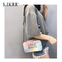 S. IKRR мини женская лазерная сумка через плечо ПВХ Желейная маленькая сумка-мессенджер яркие цвета сумки лазерная Голографическая