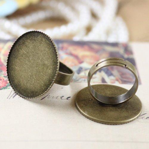 25 мм античные бронзовые ручки покрытые короной формы кольцо база/без использования свинца и никеля