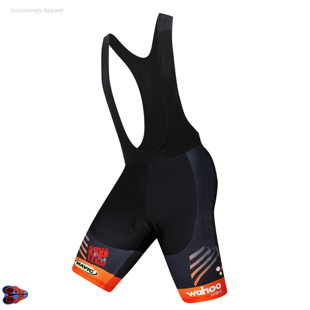 2019 Pro Team Orange <font><b>MAVIC</b></font> Cycling <font><b>Bib</b></font> <font><b>Shorts</b></font> Men Outdoor Wear Bike Bicycle Riding Breathable 9D Gel Padded Cycling <font><b>Bib</b></font> <font><b>Shorts</b></font> image